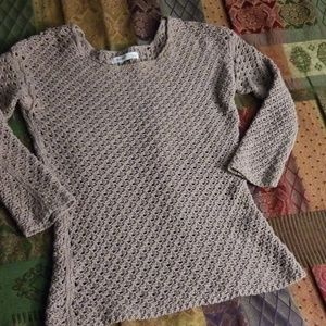 Old Navy cotton knit pullover beige or tan